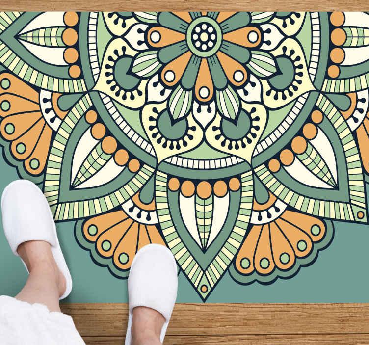 TenVinilo. Alfombra de vinilo vintage Ornamental geométrico. ¡Decora tu casa con esta increíble alfombra vinilo diseño vintage! ¡No espere más y cómprala ya! Entregamos a domicilio.