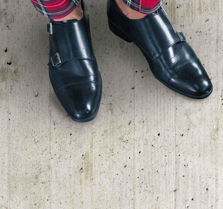TenStickers. Tapete retro de material de concreto grunge. Você é amante de concreto grunge? Gostaria de ter em casa seu piso com efeito de concreto grunge? Então compre este piso de vinil do quarto.