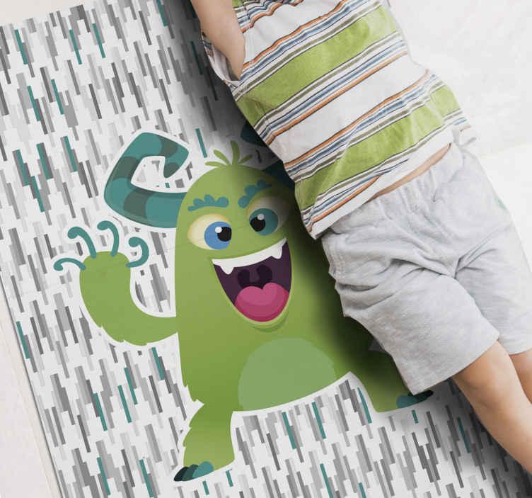 TenVinilo. Alfombra vinilo infantil monstruo nórdico. Alfombra vinilo infantil que será agradable para decorar el suelo del cuarto de los niños. Hecho de calidad y duradera ¡Elige tus medidas!