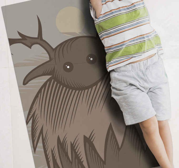 TenVinilo. Alfombra vinílica étnica Troll kittelsen. ¡Este increíble diseño de alfombra étnica vikinga es la compra perfecta que estamos seguros de que te encantará! ¡pida este producto original ahora!