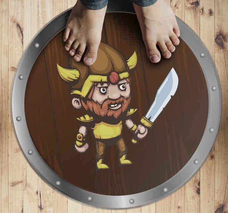 TenVinilo. Alfombra vinílica étnica Fuerte espada vikinga. Una alfombra vinilo infantil, el diseño que realmente le dará al cuarto de los niños mucha más energía! ¡compre este diseño impresionante ahora!