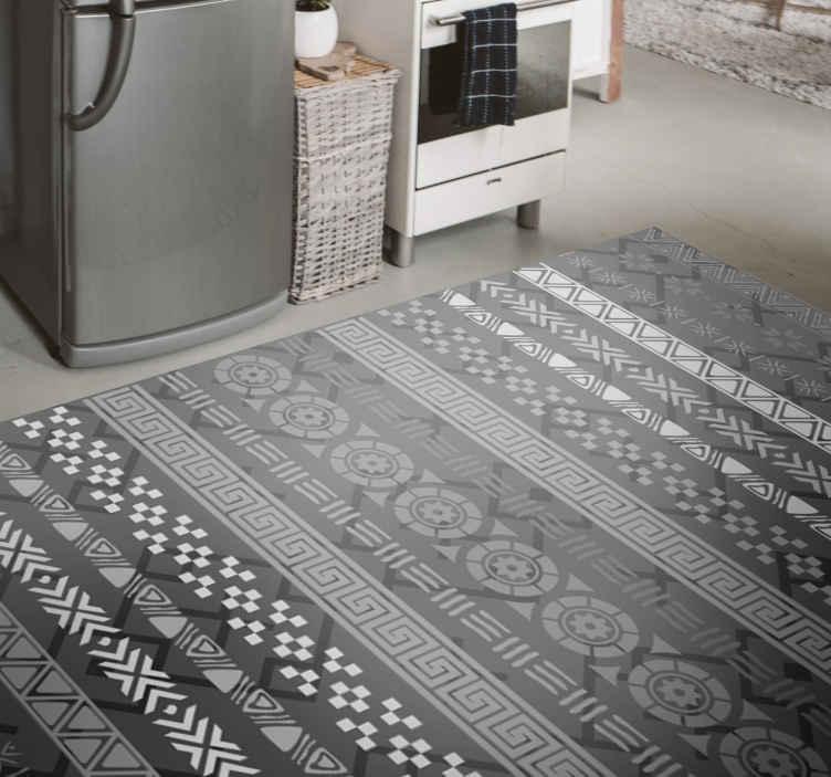 TenVinilo. Alfombra vinílica efecto mosaico en negro. Hermosa alfombra vinilo decorativa blanco y negro para personalizar un lugar de tu preferencia. Pide la que mejor se adapte a tus necesidades.