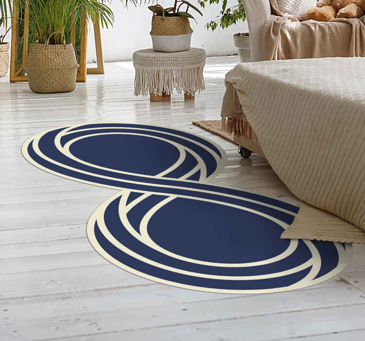 TenStickers. Infinity Symbol modern rug. Elegant rug design of an infinity symbol. Made from very high quality vinyl. Extremely long-lasting material. Worldwide delivery.