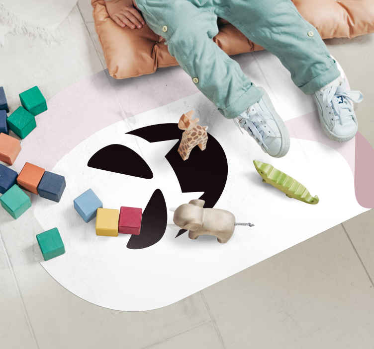 TenStickers. Spooky ghost vinyl carpet. Inspired Halloween irregular children vinyl rug featured with a spooky ghost design.It is original, easy to maintain and anti-slippery.