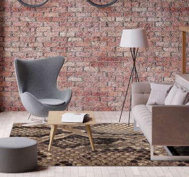 Fantastique tapis en vinyle imprimé animal en imitation peau de serpent, parfait pour décorer votre maison d'une manière différente et exclusive!