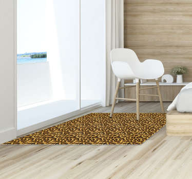 Fantastic vinyl animal print carpet with leopard texture to decorate your room or living room in an original and exclusive way !
