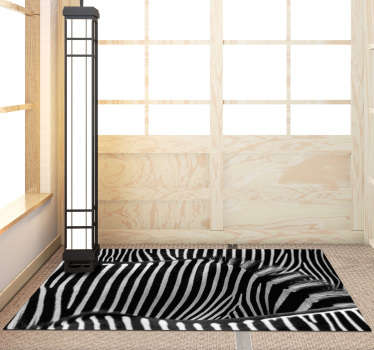 Original zebra print vinyl carpet perfect to place in your home and enjoy a unique and exclusive decoration! +10,000 satisfied customers.