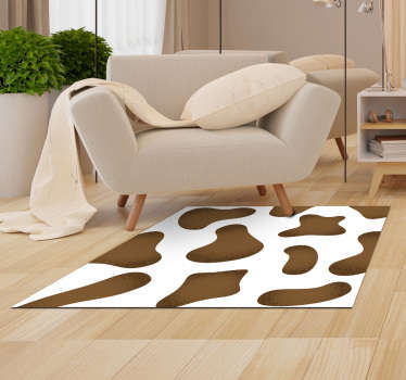 Incredible vinyl animal print carpet made of a brown cowhide with which you will give joy to your home with an original and exclusive decoration!