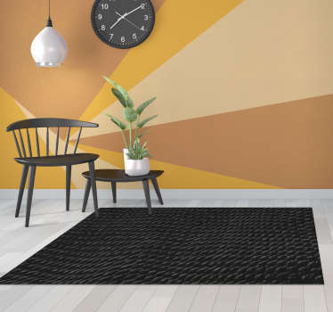 Use this stunning black snake skin animal print vinyl rug for bringing in your house a fantastic element capable of improving a lot your rooms!