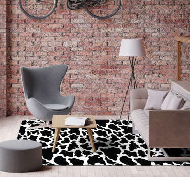 This gorgeous rectangular cow animal print vinyl rug is what you need for finally having a house which deserves to be called your house!