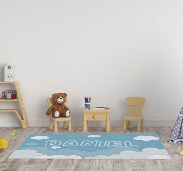多亏了这种可定制的天空婴儿乙烯基地毯,您孩子的房间才会完全改变!此外,您可以在地板上一起玩!
