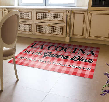 This stunning customizable kitchen cloth vinyl rug is what you need for decorating also your kitchen in a fantastic and great way!