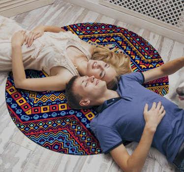 Fantastisch etnisch vinyl tapijt waarmee je je huis op een andere manier kunt decoreren! Transformeer elke ruimte! Eenvoudig aan te brengen.