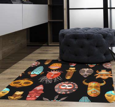 Geweldig etnisch vinyl tapijt met een vierkante vorm waarmee je je huis of bedrijf exclusief kunt versieren! Kortingen beschikbaar.