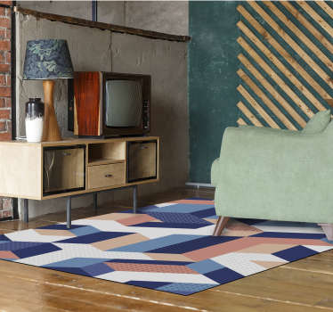 Incredible geometric vinyl carpet with rectangular shape to decorate your home or business in a different and original way!