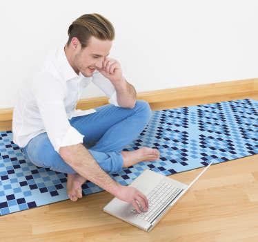 Aber dieser geometrische vinylteppich ist nicht nur schön, sondern auch sehr praktisch. Schauen sie sich all die erstaunlichen eigenschaften an, die es hat!