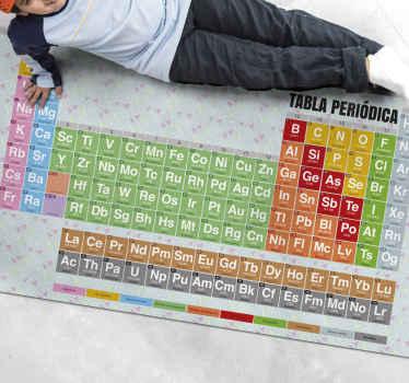 Tapis vinyl original pour enfants avec la table pérodique pour décorer la chambre de vos enfants et leur faire profiter de ce design!
