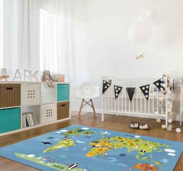 Kids room vinyl carpet to decorate your child's room Now your child can enjoy this magnificent design! Zero residue upon removal.