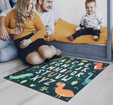 Vinyl carpet with children's alphabet that you can use to decorate your children's room in a totally exclusive way! Buy now!