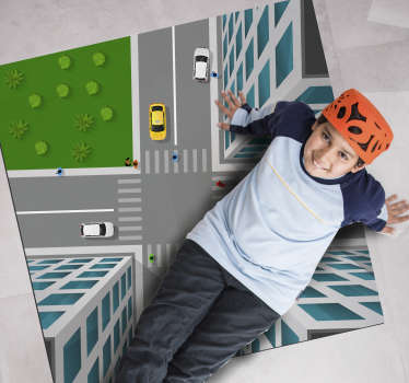 With this fabulous stunning 3D crossroad vinyl rug you can have the best choice for making a really great gift to your son!