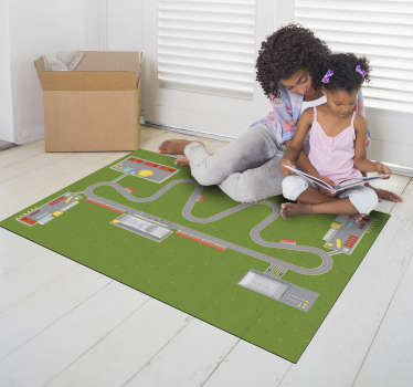 This fabulous car city track vinyl rug is the best choice for making a really great gift for your son! Bring home something unique!