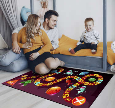Thanks to this wonderful space astronaut game vinyl rug you will make your kid really happy and you will also get a safe way for playing on the floor!