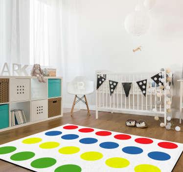 """Per šį nuostabų """"twister"""" žaidimo vinilo kilimėlį padarysite savo vaikus tikrai laimingus! Dabar galite žaisti su jais ant grindų be problemų!"""