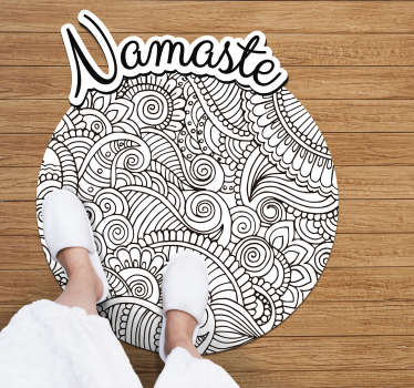 Do you know the original namaste greeting? Well, now you can have it on your Mandala vinyl carpet on your floor! The ultimate decoration!