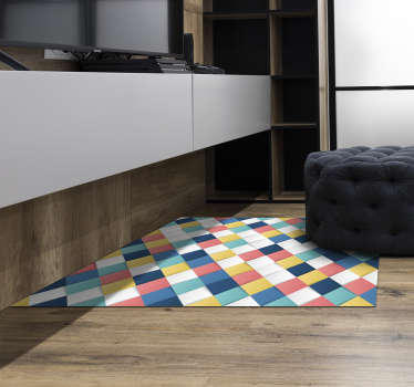 This wonderful 3D squares mosaic vinyl rug is the best solution for whom wants to find a fantastic new way to decorate the house!