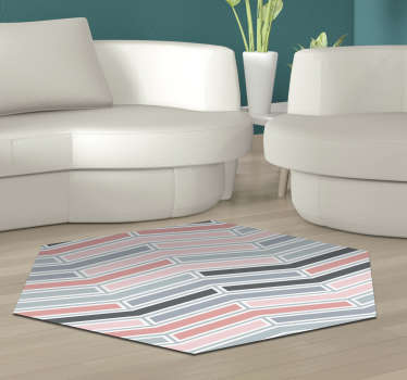 Admire this amazing hexagonal nordic style vinyl rug! Its components are so good that you can wash it several times without problems!