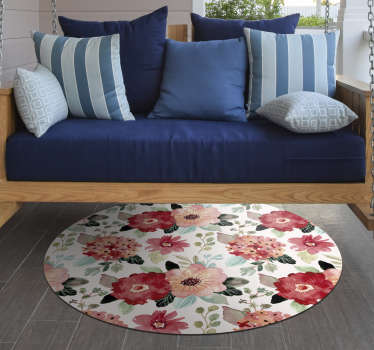 Wonderful round vintage vinyl carpet with which you will have a home decoration that everyone will envy! Easy to apply. Buy now!