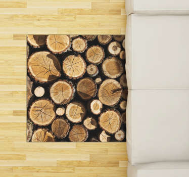 This amazing wood trunks vinyl carpet is what you need to radically change the impact of your house! Choose the best size for you!