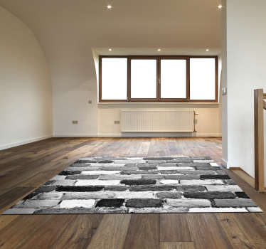 This fantastic black and white stone vinyl rug is something perfect for decorating in a stunning way every part of your house!