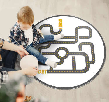 Use this spectacular round kids vinyl rug with city for making your son really happy! Provide him and his room with something wonderful!