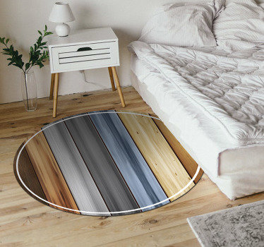 This stunnig round wood vinyl carpet is the perfect solution for transforming completely the visual effect in the rooms of your house!