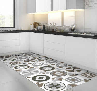 This amazing tile vinyl kitchen mat is a really great choice for improving a lot the visual effect of every part of your house!