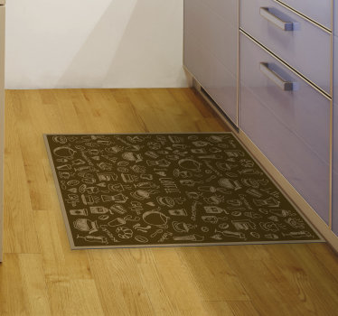 With this wonderful coffee vinyl kitchen mat you will be able to renew drastically the visual impact of every room of your house!