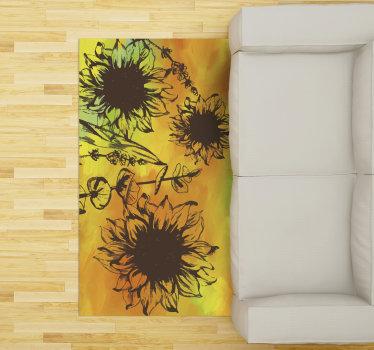 Essayez ce fabuleux tapis de salon en sticker à fleurs colorées et vous verrez à quel point les pièces de votre maison sembleraient différentes!