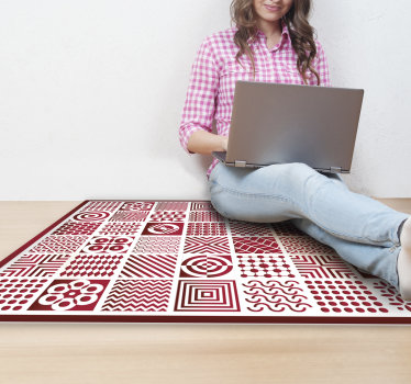这种壮观的彩色瓷砖乙烯基地毯是装饰房子的绝佳方法!相信我们真正高质量的乙烯基!