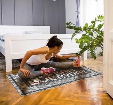 Este fantástico tapete de vinil com frases motivacionais é a melhor escolha para tornar a decoração da sua casa em algo realmente maravilhoso!