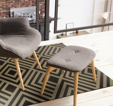 Rechteckiger geometrischer vinylteppich, um den boden ihres hauses zu dekorieren und ihm einen exklusiven, aber exotischen stil zu verleihen! Jetzt verfügbar!