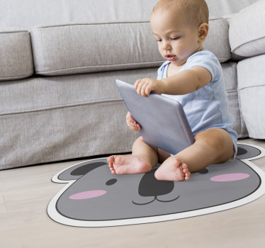 Vinyl carpet for children made of loving bear with which you can decorate your kids room with this exclusive and original design!