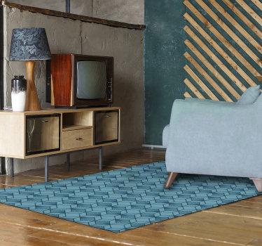 矩形立方设计的乙烯基地毯可装饰您的房屋地板,并赋予其独特而异国风情的风格!极其持久的材料。