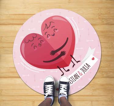 ¡Alfombra vinílica circular para decorar el suelo de su casa y darle un estilo exclusivo pero exótico! ¡Elige tu medida!