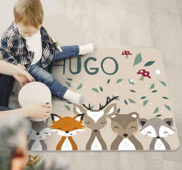 得益于这种个性化的小动物乙烯基地毯,您将在孩子的卧室里得到一个真正梦幻般的原创物品!