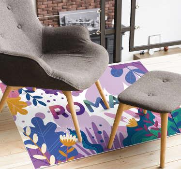 Ce fabuleux tapis en sticker de fleurs tropicales avec nom est la meilleure solution pour améliorer beaucoup l'impact de la chambre de votre enfant!