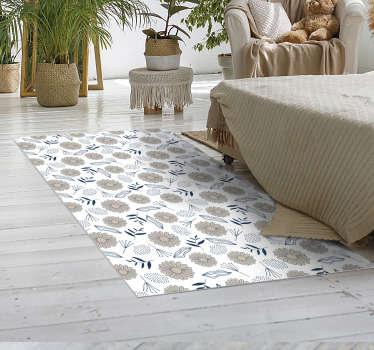 ¡Esta maravillosa alfombra vinílica para dormitorio de margarita beige es la mejor solución para la decoración de su casa! Envío a domicilio