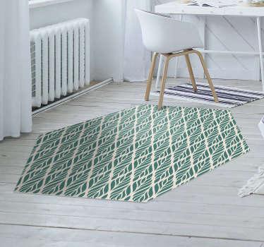 ¡Esta fabulosa alfombra vinílica para habitación con estampado floral étnico es exactamente lo que necesita para agregar un delicioso detalle en su casa!