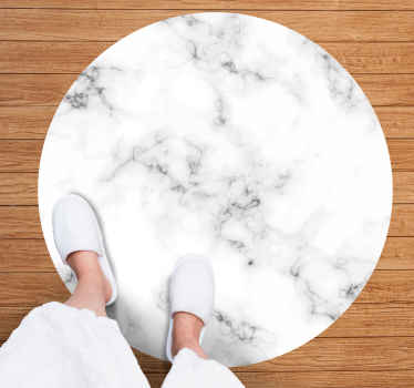 Decorate your home with a minimalist trend and get this beautiful entrance hall vinyl rug with gray marble texture. Easy to mantain.