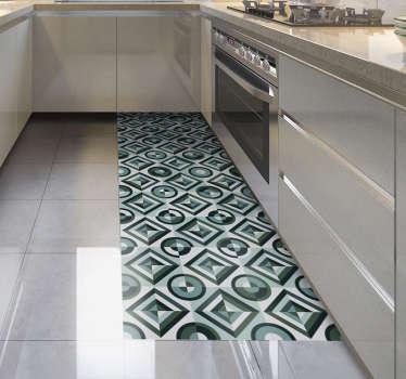 Ten wysublimowany dywan winylowy do kuchni w stylu retro łączy dwa w jednym: jest praktyczny, a także sprawi, że Twój dom będzie prawdziwym dziełem sztuki.